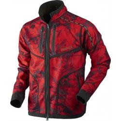 Lynx Reversible fleece jakke - Willow Green/AXIS MSP® Red Blaze