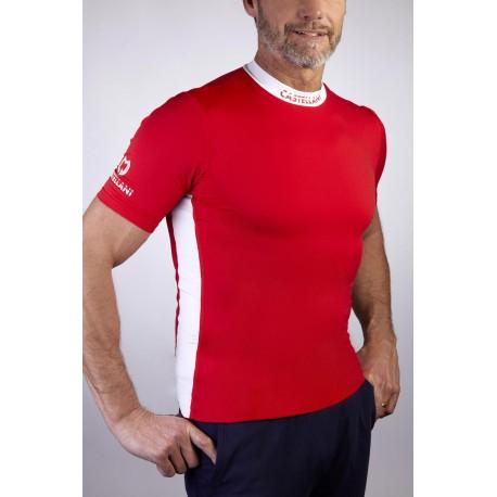 Castellani Bicolor SP T-shirt rød